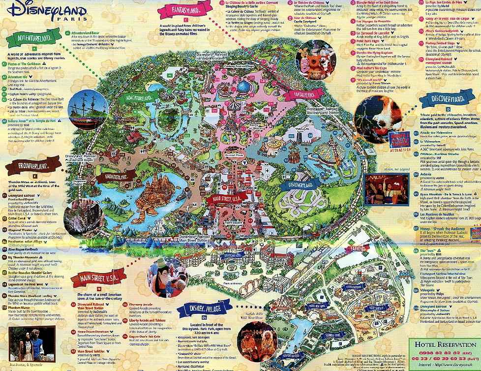 disneyland paris theme park map gallery